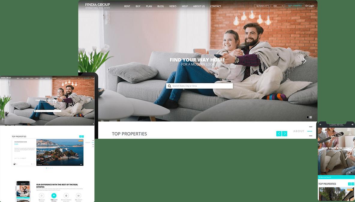 نمونه کار طراحی سایت فروش ملک